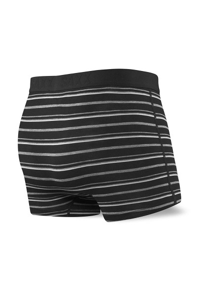 Saxx Vibe Trunk Modern Fit SXTM35-BCO Black Coastal Stripe - Mens Trunk Boxer Briefs - Rear View - Topdrawers Underwear for Men
