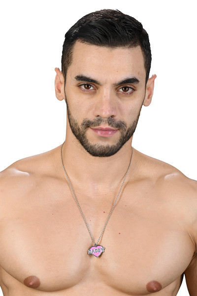 Andrew Christian Daddy Pendant 8384 - Mens Necklaces - Front View - Topdrawers Clothing for Men