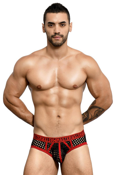 Andrew Christian Master Net Brief 90991 - Mens Briefs - Front View - Topdrawers Underwear for Men