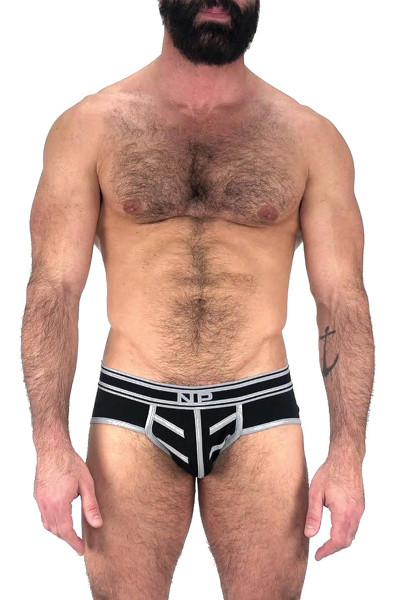 Nasty Pig Driller Brief 5597 - Black - Mens Briefs - Front View - Topdrawers Underwear for Men