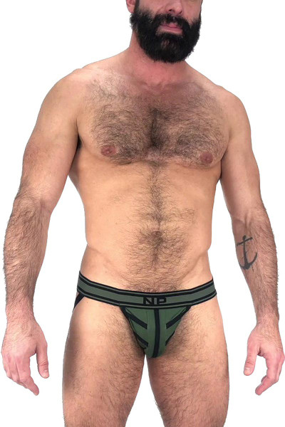 Nasty Pig Driller Jock Strap 5596 - Green - Mens Jockstraps - Front View - Topdrawers Underwear for Men