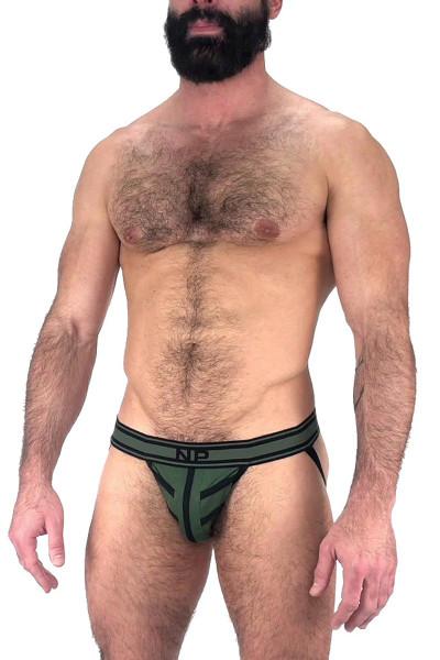 Nasty Pig Driller Jock Strap 5596 - Green - Mens Jockstraps - Side View - Topdrawers Underwear for Men
