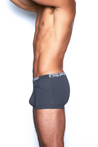 C-IN2 Grip Lite Trunk 3523 - 073 Peppercorn Grey - Mens Trunk Boxer Briefs - Side View - Topdrawers Underwear for Men