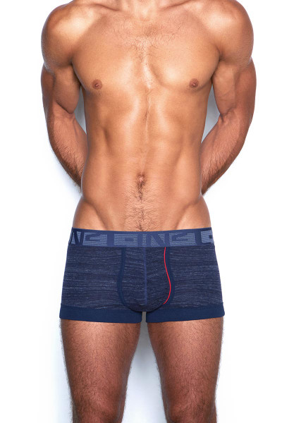 C-IN2 Hand Me Down Trunk 1923F - 420 Raw Indigo Navy - Mens Trunk Boxer Briefs - Front View - Topdrawers Underwear for Men