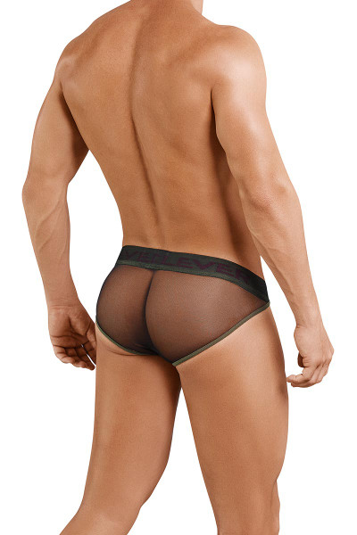 Clever Blunder Piping Brief 5024 - 11 Black - Mens Briefs - Rear View - Topdrawers Underwear for Men