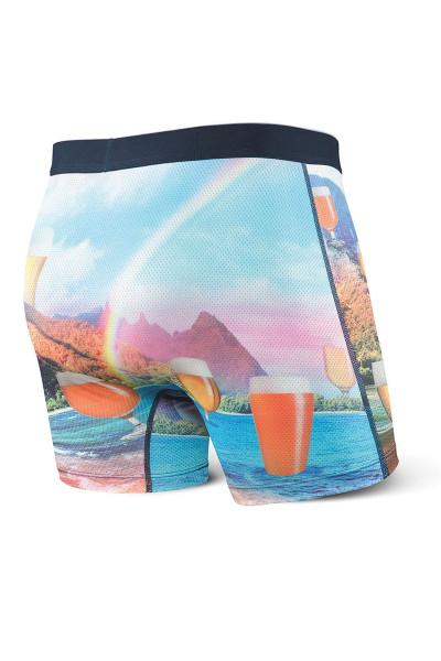 Saxx Volt Boxer Brief SXBB29 - VOB Valley Of Beer - Mens Boxer Briefs  - Rear View - Topdrawers Underwear for Men
