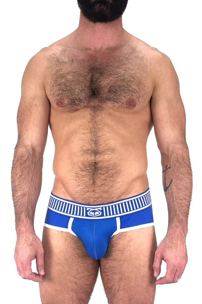 Nasty Pig Trackd Brief 5599 - Blue  - Mens Briefs  - Front View - Topdrawers Underwear for Men