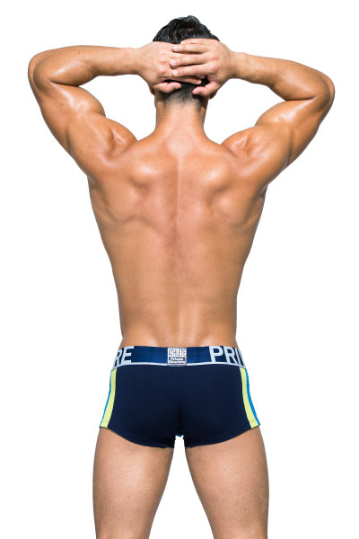 Private Structure BeFit Athlete Trunk BATMU3346BT - DBU Dress Blue - Mens Trunk Boxer Briefs - Rear View - Topdrawers Underwear for Men