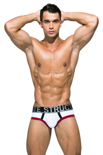 Private Structure BeFit Athlete Mini Brief BATMU1915BT - WH White - Mens Sport Briefs - Front View - Topdrawers Underwear for Men