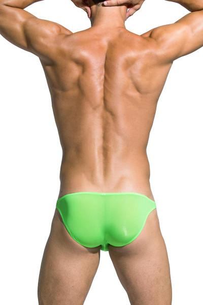 Private Structure Desire Low Rise Bikini DGEMU3571BT - GRN Green - Mens Bikini Briefs - Rear View - Topdrawers Underwear for Men