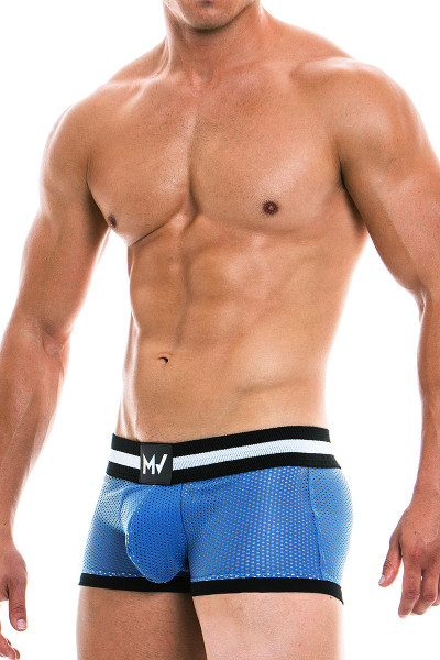 Modus Vivendi Vegan Boxer 03921 - Blue - Mens Boxer Briefs - Side View - Topdrawers Underwear for Men