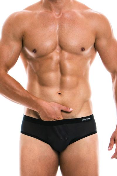 Modus Vivendi C-Through Mesh Brief 22812 - Black - Mens Briefs - Front View - Topdrawers Underwear for Men