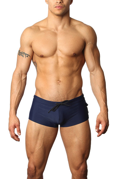 CellBlock 13 Battalion Swim Trunk CBS150 - Navy Blue - Mens Swim Trunks  - Front View - Topdrawers Swimwear for Men
