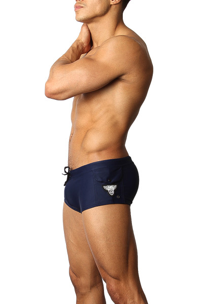 CellBlock 13 Battalion Swim Trunk CBS150 - Navy Blue - Mens Swim Trunks  - S View - Topdrawers Swimwear for Men
