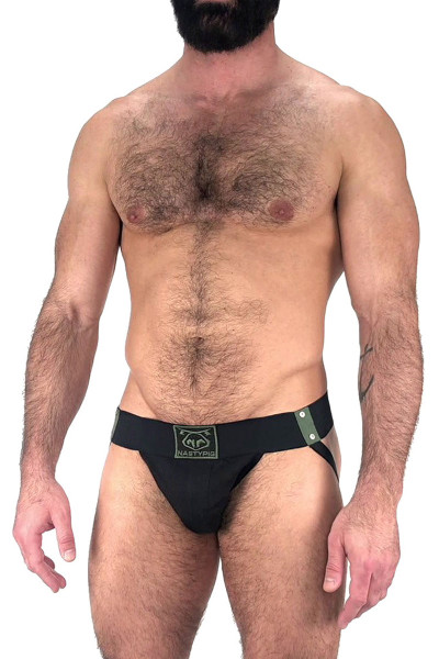 Nasty Pig Outpost Jock Strap 5602 - Black  - Mens Jockstraps - Side View - Topdrawers Underwear for Men