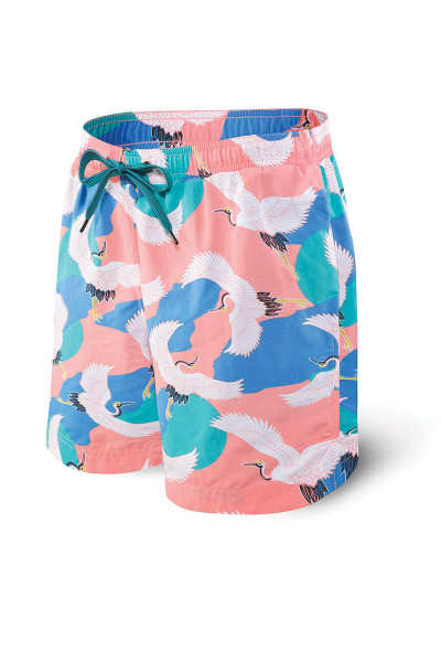 "Saxx Cannonball 2N1 Swim Short 7"" SXSS30 - MCR Mango Cranes - Mens Boardshort Swim Shorts - Front View - Topdrawers Swimwear for Men"