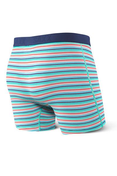 Saxx Vibe Boxer Brief Modern Fit SXBM35 - WIT Blue Witty Stripe - Mens Boxer Briefs - Rear View - Topdrawers Underwear for Men