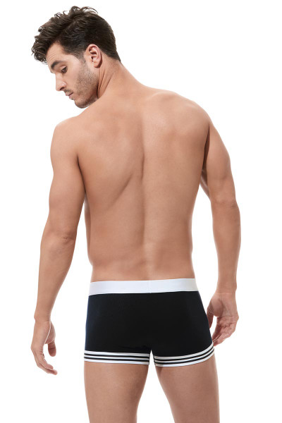 Gregg Homme Evoke Boxer Brief 160505 - Black - Mens Boxer Briefs - Rear View - Topdrawers Underwear for Men
