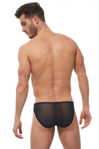 Gregg Homme Strap Brief 170203 - Mens Fetish Briefs - Rear View - Topdrawers Underwear for Men