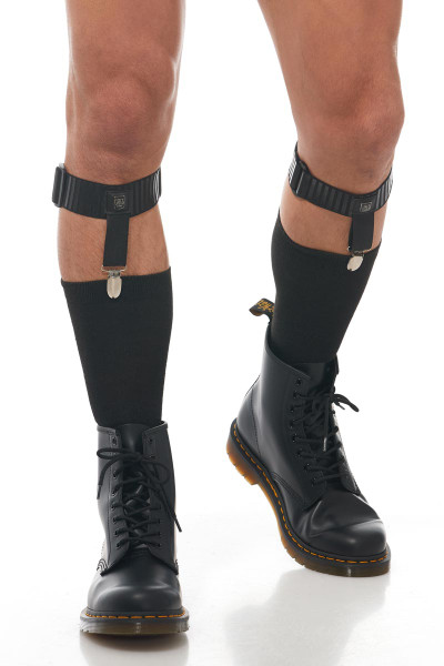 Gregg Homme Strap Garter 170272 - Mens Fetish Harnesses - Legs - Front View - Topdrawers Underwear for Men