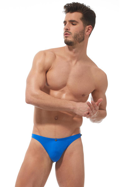 Gregg Homme Caliente Swim Thong 170625 - Royal Blue - Mens Swim Thongs - Front View - Topdrawers Swimwear for Men