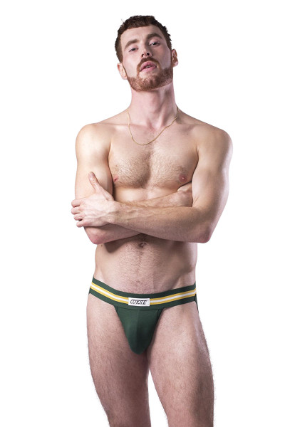 Coyote Jocks Hunter Green Jock M301 - Hunter Green - Mens Jockstraps - Front View - Topdrawers Underwear for Men