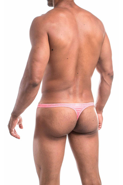 Joe Snyder Thong JS03 - Red Jean - Mens Thongs - Rear View - Topdrawers Underwear for Men