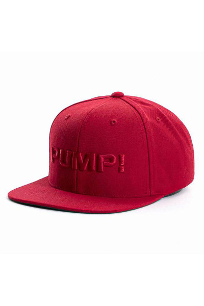 PUMP! All Red Snapback 31009 - Mens Caps - Side View - Topdrawers Clothing for Men
