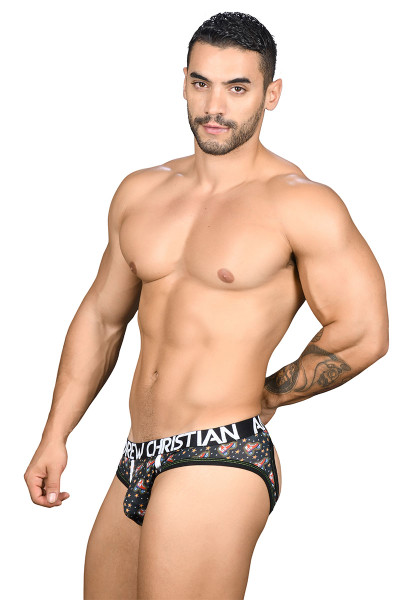 Andrew Christian 69 Roller Disco Air Jock w/ Almost Naked 91096 - Mens Jock Briefs - Side View - Topdrawers Underwear for Men