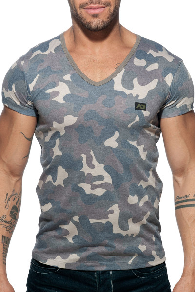 75af6c53843c Addicted Washed Camo T-Shirt AD800-17 - Mens T-shirts - Front ...