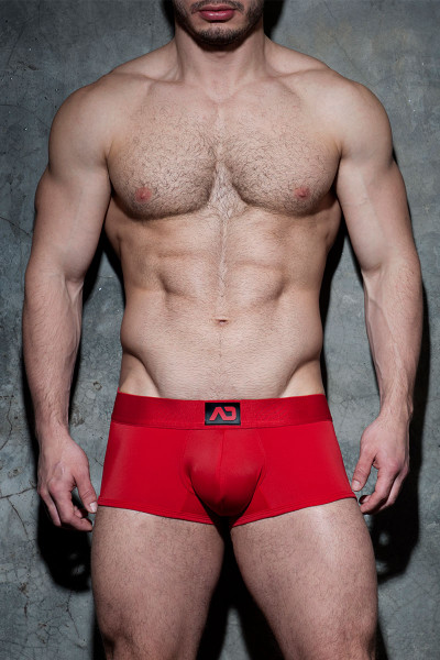 Addicted Fetish Bottomless Fetish Boxer ADF93 - 06 Red - Mens Jock Boxers - Front View - Topdrawers Fetish Underwear for Men