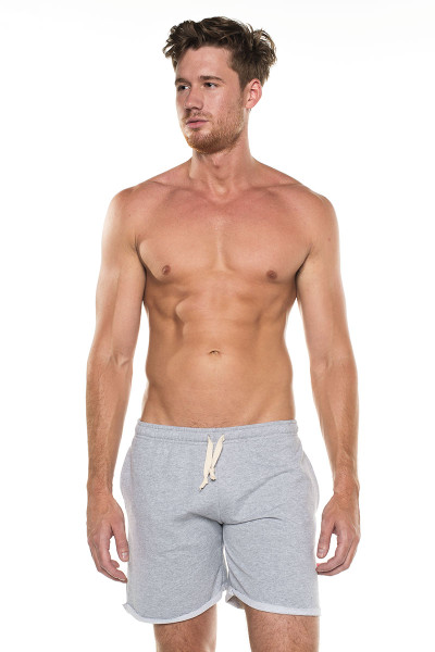 Go Softwear West Coast Vibe Warm-Up Shorts 4677- Heather Grey - Mens Athletic Shorts - Front View - Topdrawers Clothing for Men