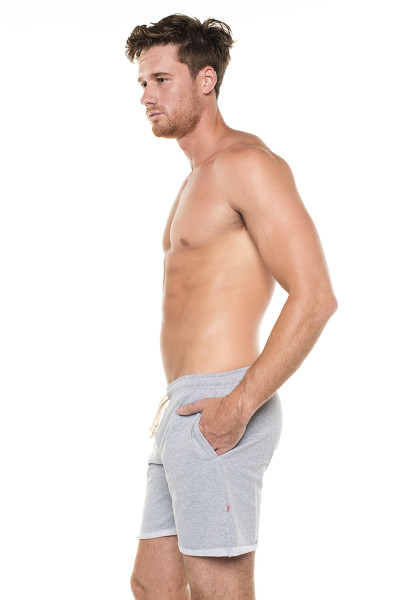 Go Softwear West Coast Vibe Warm-Up Shorts 4677- Heather Grey - Mens Athletic Shorts - Side View - Topdrawers Clothing for Men