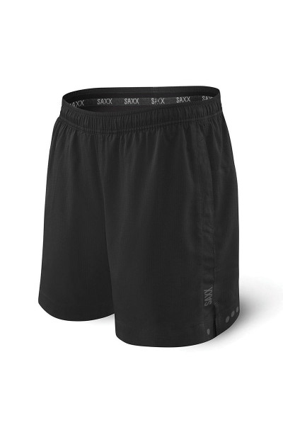 Saxx Kinetic Sport 2N1 Short SXKS27-BLK - Mens Athletic Shorts - Front View - Topdrawers Clothing for Men