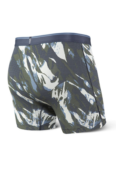 Saxx Quest Boxer Brief w/ Fly SXBB70F-NMC - Navy Mountain Camo - Mens Boxer Briefs - Rear View - Topdrawers Underwear for Men
