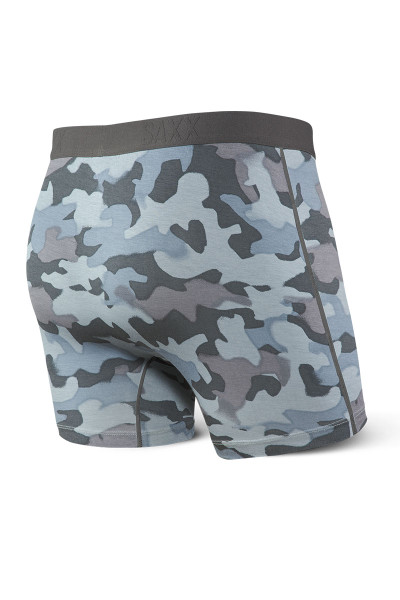 Saxx Ultra Boxer Brief w/ Fly SXBB30F-GSC - Graphite Stencil Camo - Mens Boxer Briefs - Rear View - Topdrawers Underwear for Men