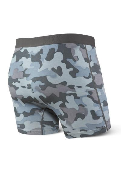 Saxx Ultra Boxer Brief w/ Fly SXBB30F-GSC - Graphite Stencil Camo - Mens Boxer Briefs - Rear View - Topdrawers Underwear for Men