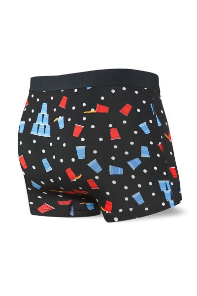 Saxx Vibe Trunk SXTM35-BBC - Black Beer Champs - Mens Boxer Briefs - Rear View - Topdrawers Underwear for Men