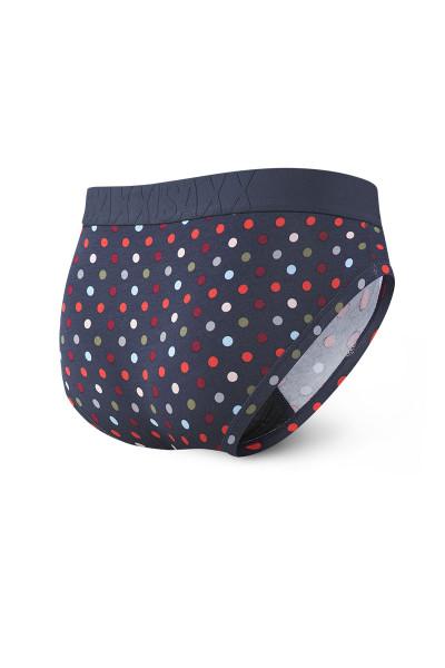 Saxx Undercover Brief w/ Fly SXBR19F-NMD - Navy Multidot - Mens Briefs - Rear View - Topdrawers Underwear for Men