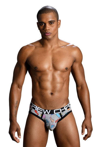 Andrew Christian F-Bomb Brief w/ Almost Naked 91167 - Mens Briefs - Front View - Topdrawers Underwear for Men