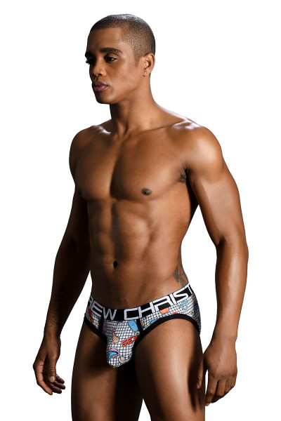 Andrew Christian F-Bomb Brief w/ Almost Naked 91167 - Mens Briefs - Side View - Topdrawers Underwear for Men