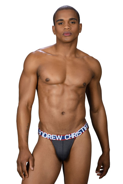Andrew Christian Denim Active Jock 91261 - Mens Jockstraps - Front View - Topdrawers Underwear for Men