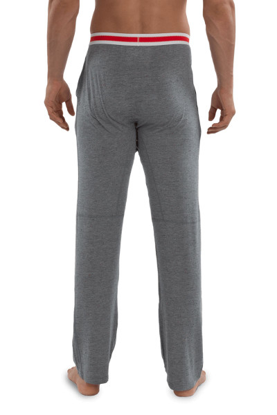 Saxx Sleepwalker Pant SXLW32-GSM Grey Heather Sock Monkey - Mens Pyjama Pants - Rear View - Topdrawers Sleepwear for Men