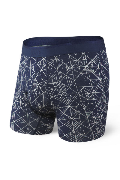 Saxx Platinum Boxer Brief w/ Fly SXBB42F-NPF Navy Pathfinder - Mens Boxer Briefs - Front View - Topdrawers Underwear for Men