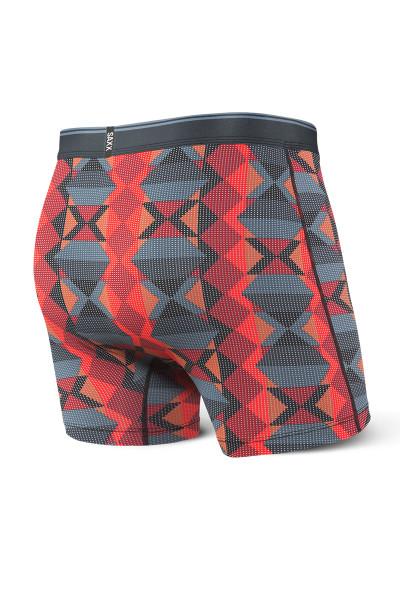 Saxx Quest Boxer Brief w/ Fly SXBB70F-BDN Blue Dot Navajo - Mens Boxer Briefs - Rear View - Topdrawers Underwear for Men