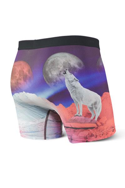 Saxx Volt Boxer Brief SXBB29-BLM Blood Moon - Mens Boxer Briefs - Rear View - Topdrawers Underwear for Men