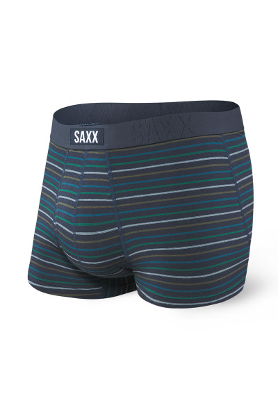 Saxx Undercover Trunk w/ Fly SXTR19F-BSK Blue Skipper Stripe - Mens Trunk Boxer Briefs - Front View - Topdrawers Underwear for Men