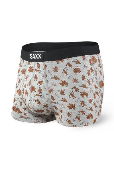 Saxx Undercover Trunk w/ Fly SXTR19F-GGR Grey Ginger Revenge - Mens Trunk Boxer Briefs - Front View - Topdrawers Underwear for Men