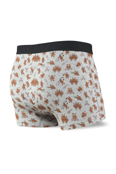Saxx Undercover Trunk w/ Fly SXTR19F-GGR Grey Ginger Revenge - Mens Trunk Boxer Briefs - Rear View - Topdrawers Underwear for Men