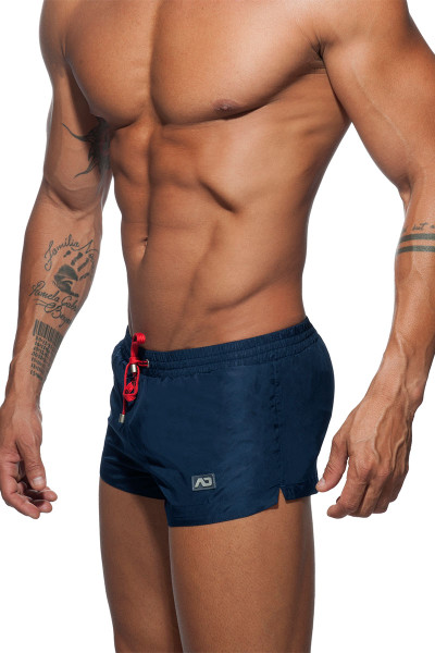 Addicted Basic Mini Swim Short ADS111-09 - Navy Blue - Mens Boardshorts Swim Shorts - Side View - Topdrawers Swimwear for Men
